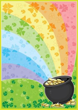 luck of the irish: illustration of a patricks card