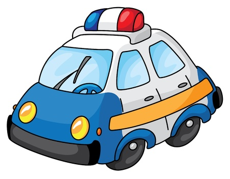 cop: An illustration of a police car
