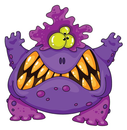 Illustrazione di un terribile mostro
