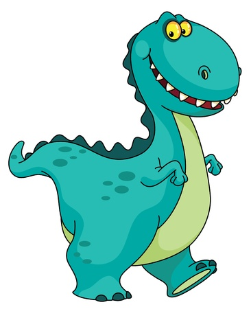 the lizard: An illustration of a smiling dinosaur