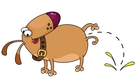 An illustration of a funny dog
