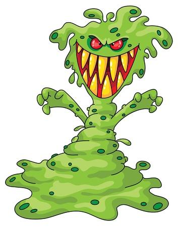 Illustratie van een enge monster Vector Illustratie