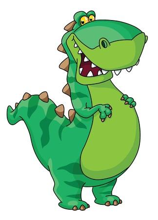 幸せな恐竜のイラスト  イラスト・ベクター素材