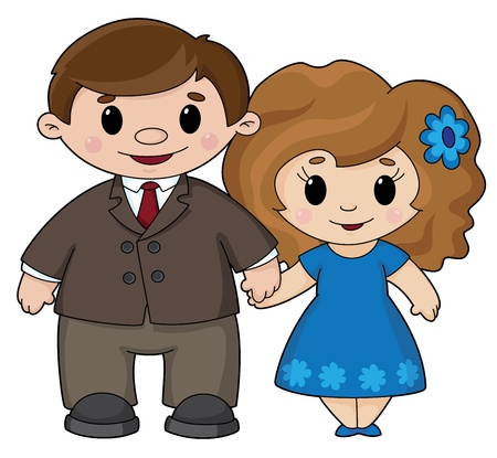 illustration of a man and woman Vector