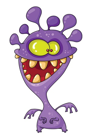 illustration of a monster funny Vector