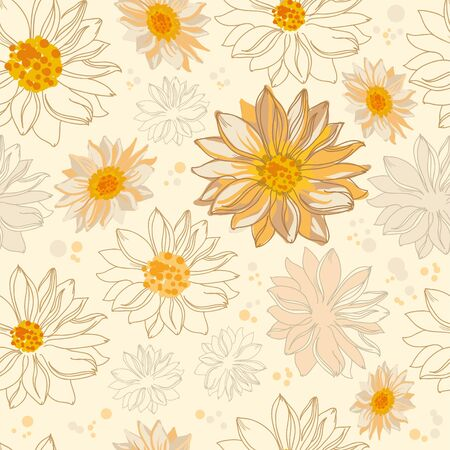 illustration of a pattern flowers Vector