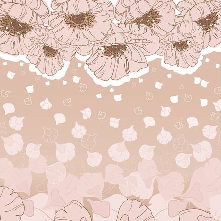 illustration of a poppies card Vector