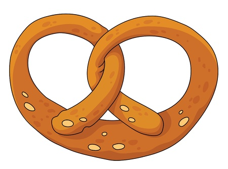 pretzel: illustration of a pretzel