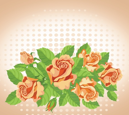 illustration of a roses card fine Vector