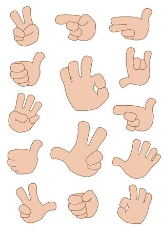 forefinger: illustration of a gestures collection
