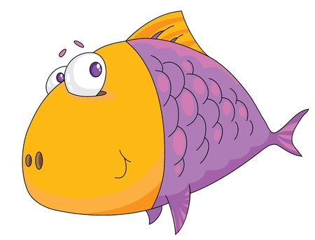 Illustration of a fish big  Vector
