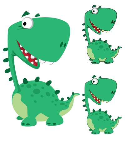 illustration of a dino cartoon funny Vector