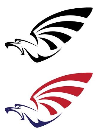 falcons: illustration of a set eagle