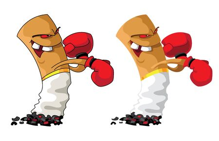 illustration of a cigarette boxer set Vector