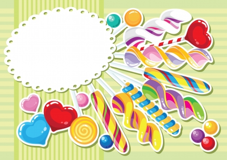mint candy: illustration of a sweets sticker background Illustration