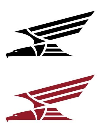 halcones: ilustración de un águila rapaz para el diseño del tatuaje