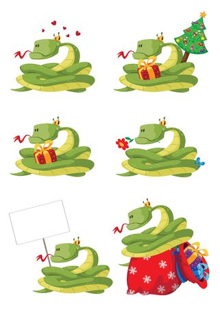 illustration of a collection snake Vector