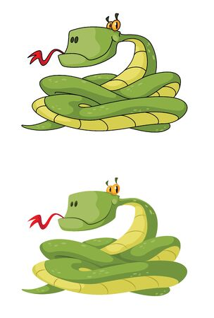 illustration of a snake set Vector