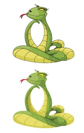 python: illustration of a cute snake