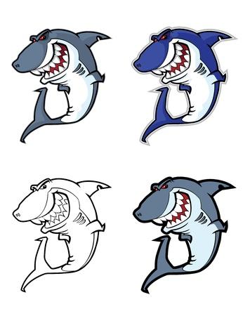 grampus: illustration of a evil shark mascot