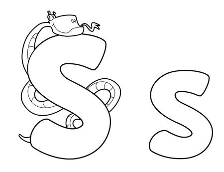 python: illustration of a letter S snake outlined