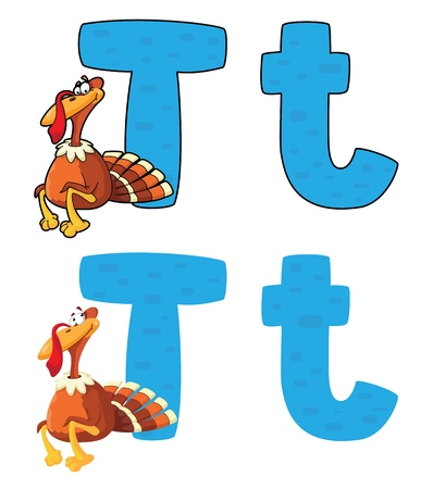 illustration of a letter T turkey Vector