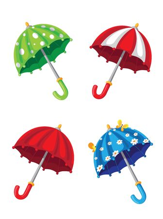 illustration of a umbrella set Stock Vector - 15111739