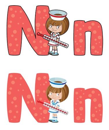 cartoon nurse: illustration of a nurse Illustration