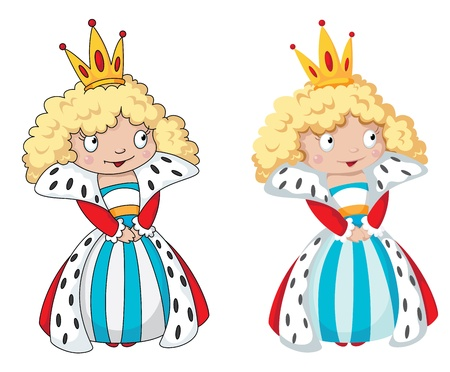 illustration of a queen set