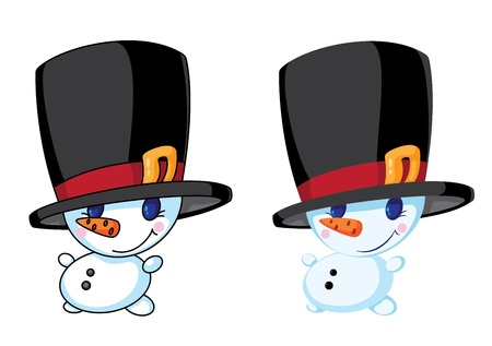 illustration of a small snowman Vector