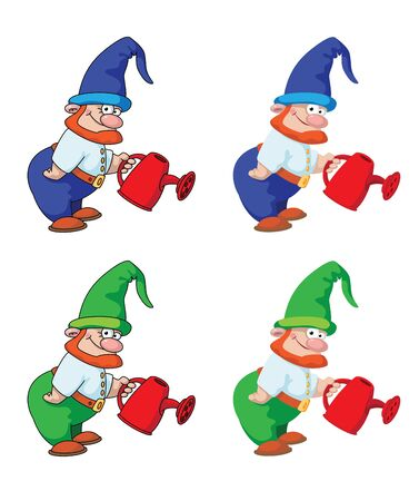 illustration of a gnome gardener Stock Vector - 16181835
