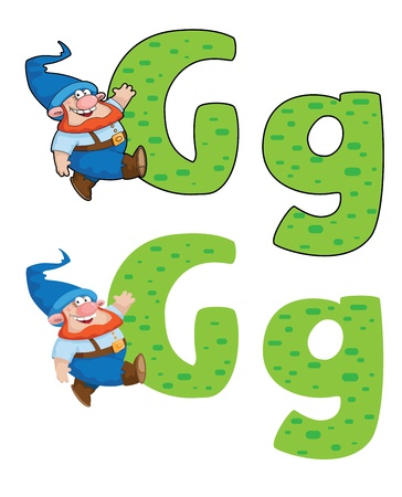illustration of a letter G gnome Stock Vector - 16441318