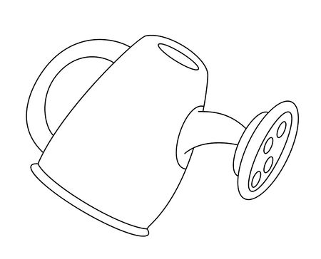 watering: illustration of a watering can outlined