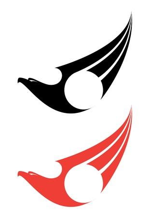 falcon: illustration of a eagle label