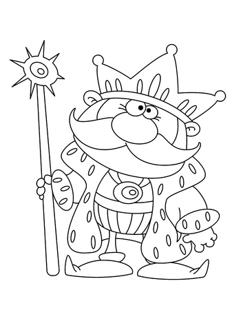 sceptre: illustration of a king outlined