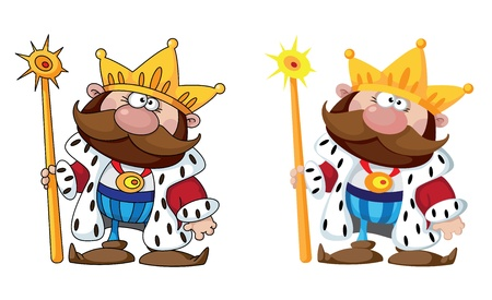scepter: illustration of a smiling king