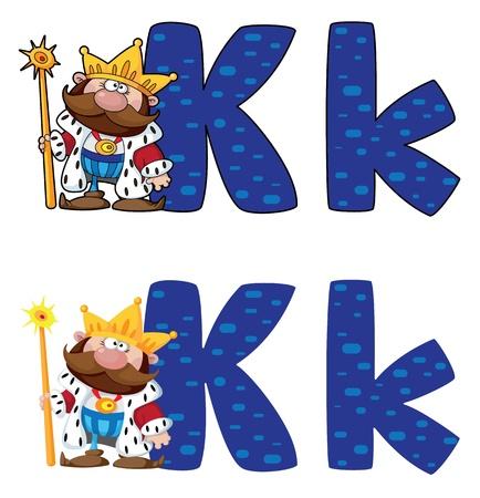 sceptre: illustration of a letter K king