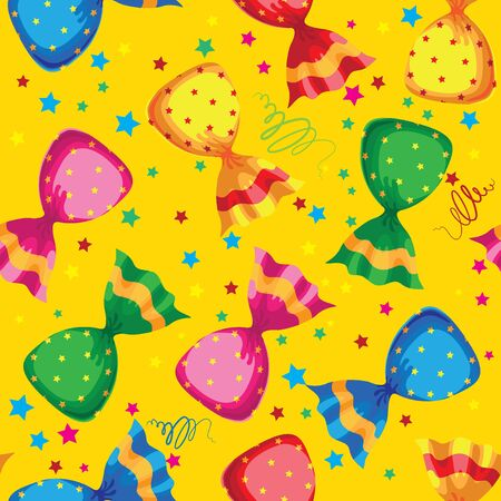 illustration of a pattern funny sweets candy Stock Vector - 17841851
