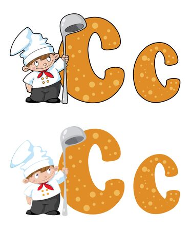 illustration of a letter C cook Vector