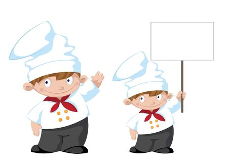 illustration of a cute cook Vector