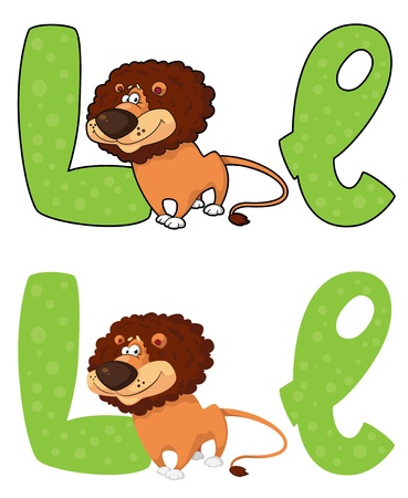 illustration of a letter L lion Vector