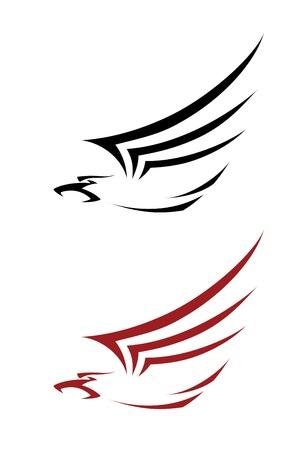 tatoo: illustration of a tatoo hawk Illustration