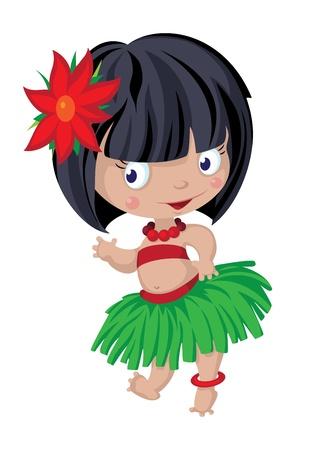 skirts: illustration of a little dancer Illustration