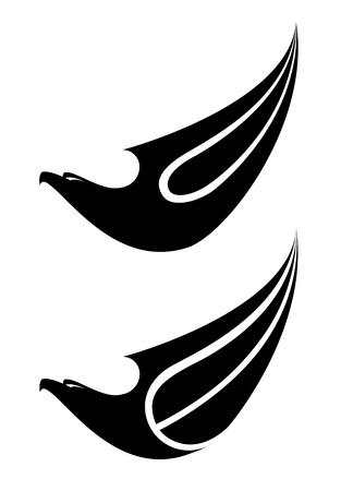illustration of a eagle label set Vector