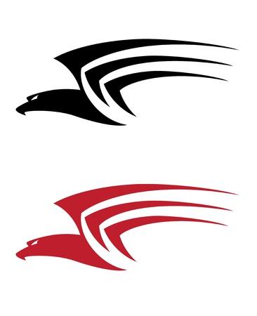 falcons: illustration of a tattoo big hawk