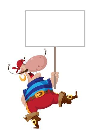 filibuster: illustrazione di un sorriso pirata con un segno Vettoriali