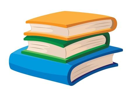 Ilustración de un color libros