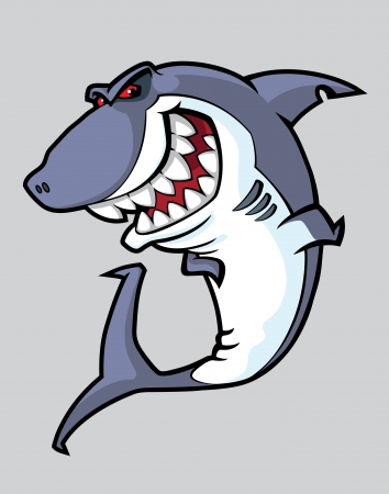 grampus: illustration of a angry shark