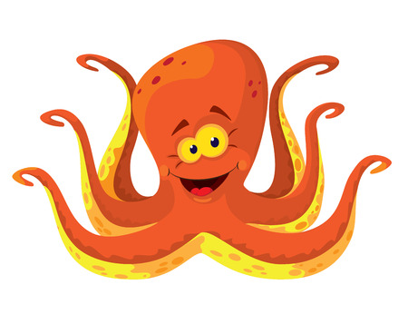 illustration of a big octopus