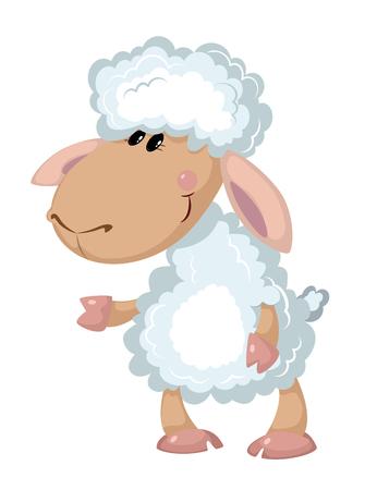 lamb cartoon: illustration of a beautiful sheep